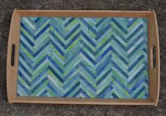 Handmade Glass Mosaic Serving Tray by NYMosaicArt on Etsy, $90.00