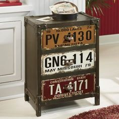 License Plate Cabinet