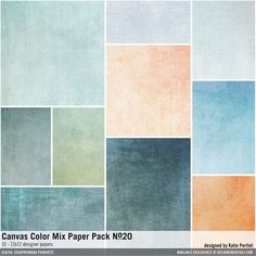 Canvas Color Mix Paper Pack No. 20 textured painted cardstock papers #designerdigitals
