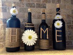 Botella de vino de CASA Decor decoración para el por Partyinthebarn
