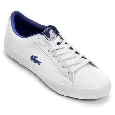 Tênis Lacoste Lerond Lpf Branco e Azul | Netshoes