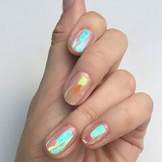 Nailed it  - for everyone asking from yesterday try Chanel Holographic nail polish