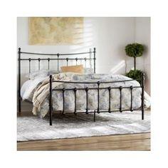 Queen Size Bed Frame Metal Headboard Footboard Rustic Vintage Antique Victorian | Home & Garden, Furniture, Beds & Mattresses | eBay!