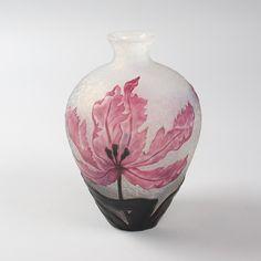 French Art Nouveau Cameo Glass Vase by Daum Daum Art Glass and Pâte-de-Verre Antique Decorative Arts Tiffany Lamps Art Nouveau