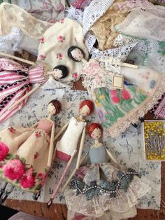 Just love these darling dolls. Vintage handkerchiefs would make great skirts! If you love collecting baby dolls, you've come to the right place! In this post, we're revealing the best dolls that you can add to your collection today. Doll Crafts, Diy Doll, Best Baby Doll, Clothespin Dolls, Vintage Handkerchiefs, Wooden Dolls, Fairy Dolls, Soft Dolls, Cute Dolls