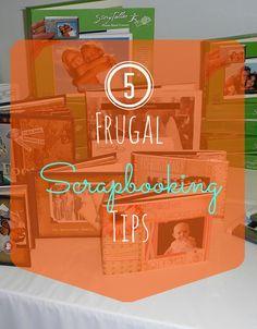 5 Frugal Scrapbooking Tips  http://bargainbriana.com/5-tips-for-scrapbooking-frugally/  #frugal #scrapbooking
