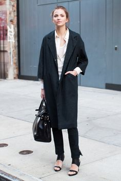 I always think Emerson Fry does the best coats.  Drop Shoulder Coat - Opera Black | Emerson Fry
