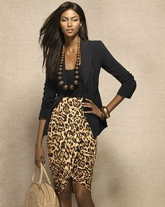 This is the right kind of leopard skirt to rock
