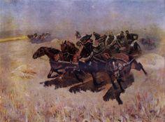 Mitrofan Griekov (Martyschenko). Tachanka. 1925. Tretyakov Gallery