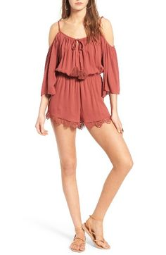88db043b866 Free shipping and returns on Socialite Cold Shoulder Romper at Nordstrom.com.  Show off