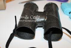 Spy Gear Binoculars! Little Boy Crafts!