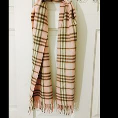 Burberry light pink scarf Authentic Burberry light pink scarf. Cashmere. Gently used. Burberry Accessories Scarves & Wraps