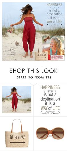 """""""Happy beach day"""" by lehman112 ❤ liked on Polyvore featuring Brewster Home Fashions, Style & Co., Prada and Steve Madden"""