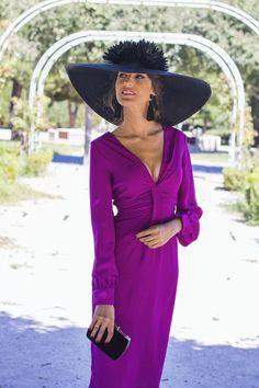 Look invitada de mañana: buganvilla dress Wedding Attire, Wedding Dresses, Single Women, Quinceanera Dresses, Hats For Women, Wrap Dress, Party Dress, Fashion Dresses, Women Wear