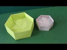 """折り紙「6角形の箱」折り方Origami """"Hexagon Box"""""""