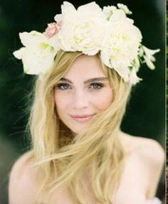 Fresh flower headpiece