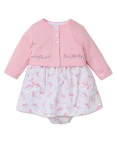 0b5774cb6f0 Little Me Baby Girls  Knit Dress with Cardigan