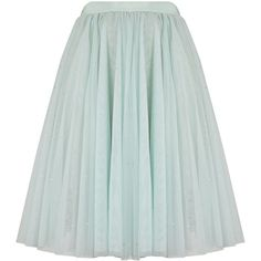Ted Baker Odella Skirt ($190) ❤ liked on Polyvore featuring skirts, pale green, tutu skirts, ted baker skirt, green tutu, party skirts and sequin skirt