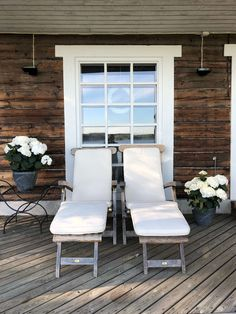 BELIEVE by tuula rossi jackets Outdoor Chairs, Outdoor Furniture, Outdoor Decor, Relax, Cottage, Lifestyle, Jackets, Beautiful, Home Decor