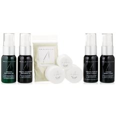 $43.99 This Travel Kit with daily use will last 7 - 12 days. Our products do not contain water and are quite concentrated.