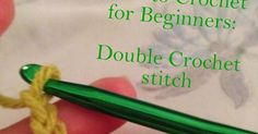 How to double crochet AKA DC     Row 1: 20 chain stitches     Row 2: Yarn over and place hook in 2nd chain from hook. Insert hook, pu...
