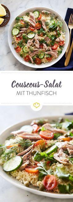 Für die schnelle Mittagspause oder den großen Hunger nach Feierabend - dieser Salat kann einfach alles. So macht gesundes Schlemmen Spaß!