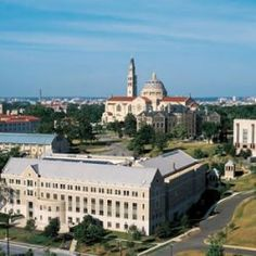 That's the law school in the forefront! //The Catholic University of America Photo #1