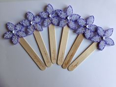"""Paper placecard """"flower"""", by QuillyPaperDesign"""