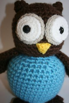 Archimedes Maximus Crocheted Owl by SassySistersCrochet on Etsy, $29.99