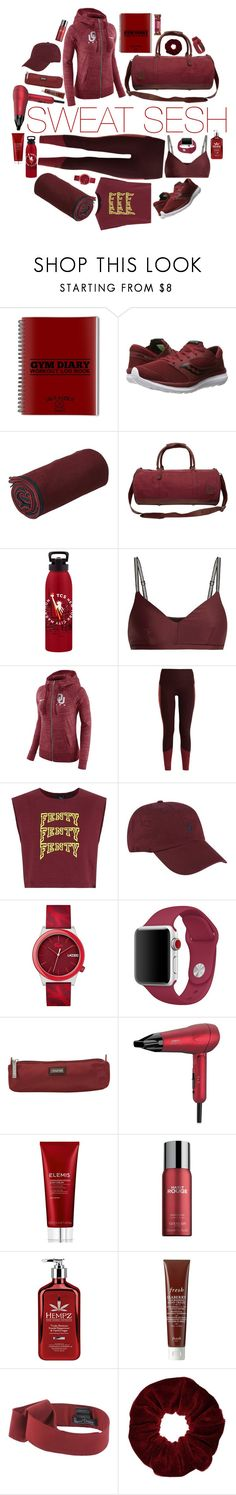 """ruby red"" by blumberg ❤ liked on Polyvore featuring Saucony, Manduka, Mahi, New Balance, The Upside, NIKE, adidas, Puma, Polo Ralph Lauren and Lacoste"