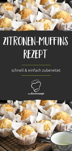 Ein Klassiker in der Backküche: Zitronen-Muffins. Dieses Rezept garantiert eine… A classic in the kitchen: lemon muffins. This recipe guarantees easy and fast preparation. So you do not have to wait long and you can access and enjoy!
