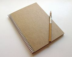 Kraft Plain Spiral Notebook 6 x 8 by Ciaffi on Etsy, $16.00