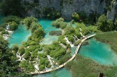 Plitvice lakes National Park in Croatia
