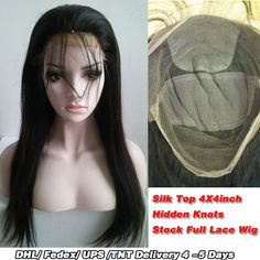 160.55$  Watch now - http://ali702.worldwells.pw/go.php?t=32769428241 -  Silk Top(4X4)  Full Lace Wig And Glueless Full Lace Wig Made By 8A Grade Hair Quality Indian Remy Human Hair In Stock. 160.55$