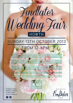 Wedding Fair Sunday 13th Oct 12-6pm Lots of exhibitors on the day, canapes and wine, live music. #weddingfair #findlater #howth #wedding #weddings #showcase #engaged