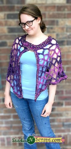 Twilight Reverie Crochet Poncho