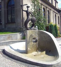 Mermaid Fountain in Bielsko-Biała, Poland