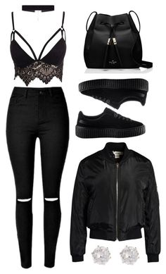 """Untitled #1008"" by nenedopesauce ❤ liked on Polyvore featuring Club L, Puma, Sans Souci, Kate Spade and 8 Other Reasons"