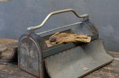 c.1940s. A Vintage Industrial Craftsmen Steel Double Door, Gullwing Steel Toolbox.