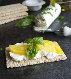 Greek Yogurt Cheese - so similar to goat cheese, but saves you a billion calories and fat grams. | @tasteLUVnourish
