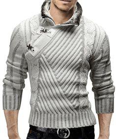 Merish - Suéter para hombre, talla s, color blanco                                                                                                                                                     Más