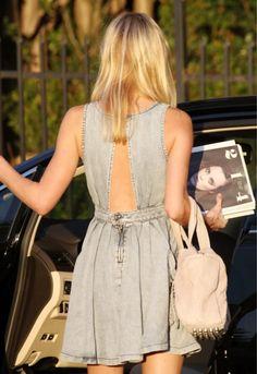 jean dress, love the back