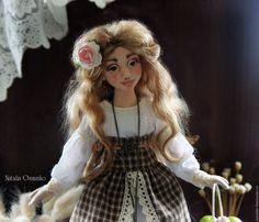 Купить Ольга. Текстильная кукла. Авторская интерьерная кукла. Бохо - коричневый, бохо, авторская кукла