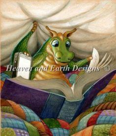 A Little Light Reading - Heaven and Earth Designs Artist: Randal Spangler