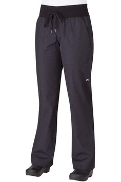 These comfy chef pants are as comfortable and flattering as your favorite pair of work-out pants. Manufactured in a yarn dyed poly cotton with a comfortable wide elasticated waist band to ensure all day comfort. Restaurant Uniforms, Coats For Women, Clothes For Women, Work Uniforms, Work Fashion, Chef Jackets, My Style, Cookers, Pastry Chef