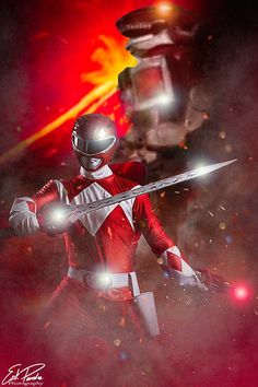 Mighty Morphin Red Ranger / TyrannoRanger cosplayed by Jonathan De Mosco. Photography by Erik Paredes Photography. Pink