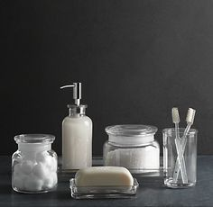 "Countertop Accessories ""Pharmacy Accessories clear glass"" 