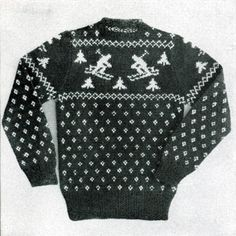 More Christmas Sweaters for Babies and Kids – free patterns to knit – Grandmother's Pattern Book