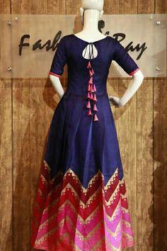 Kurtis Neck Designs with New trend style - Kurti Blouse Long Gown Dress, Lehnga Dress, Frock Dress, Long Gowns, Dress Neck Designs, Blouse Designs, Neckline Designs, Kurti Designs Party Wear, Salwar Designs