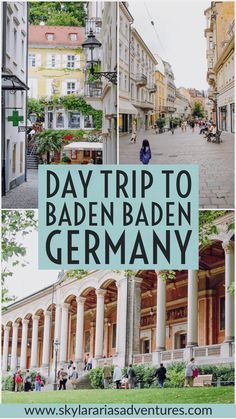 Our road trips through Germany takes us to Baden-Baden. Baden-Baden is a spa town in southwestern Germany's Black Forest. Baden Germany, Europe Destinations, Europe Places, Holiday Destinations, Madrid, Travel Usa, Travel Info, Hawaii Travel, Italy Travel